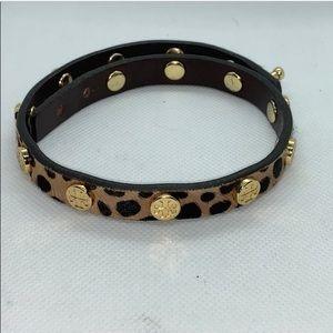 Leopard Tory Burch wrap bracelet
